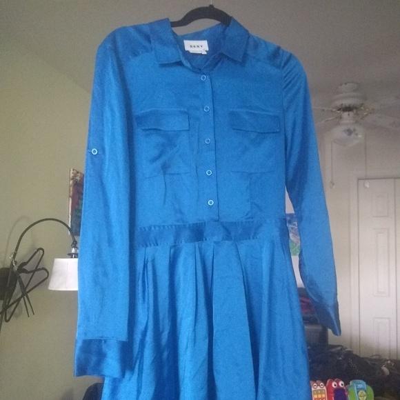 Dkny Dresses & Skirts - DKNY Donna Karan NY Long Sleeve Satin Shirt Dress